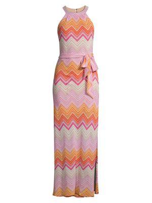 Speakeasy Knit Chevron Maxi Dress