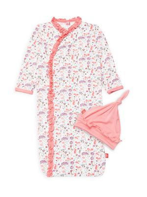 Baby Girl's Beatrix Floral 2-Piece Sleepshirt & Hat Set