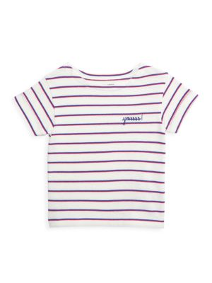 Little Kid's & Kid's Sailor Striped YES T-Shirt