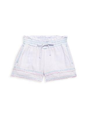 Little Girl's & Girl's Frayed Hem Shorts