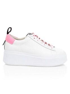 아쉬 문 스니커즈 ASH Moon Leather Platform Sneakers,White Pink