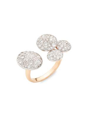 Sabbia 18K Rose Gold & Diamond Open Ring