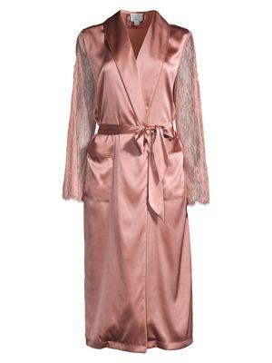 Aerie Lace-Trimmed Stretch-Silk Robe