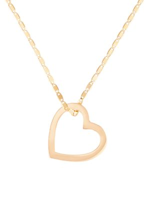 14K Yellow Gold Small Floating Heart Necklace