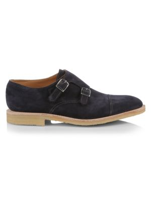 William Suede Monk-Strap Oxford Loafers
