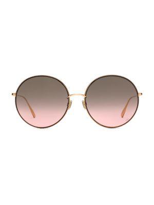 DiorSociety2F 60MM Round Sunglasses