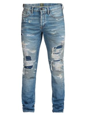 Le Sabre Slim-Fit Repaired Jeans