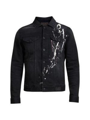 Paint Splatter Denim Jacket