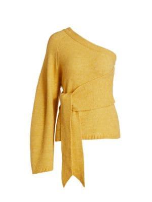 Cleto One-Sleeve Asymmetrical Sweater