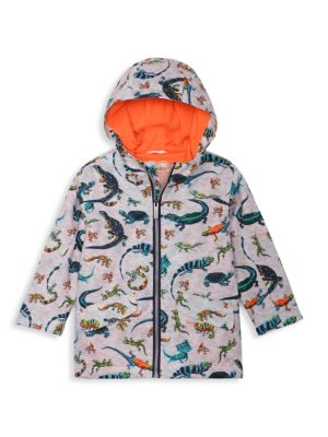 Little Boy's & Boy's Rambunctious Reptile Hooded Jacket