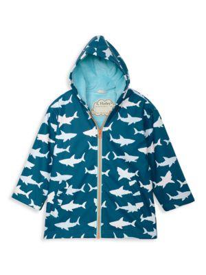 Little Boy's & Boy's Great White Sharks Hooded Jacket
