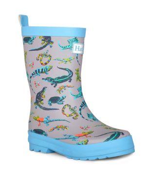 Little Boy's & Boy's Rambunctious Reptiles Rain Boots