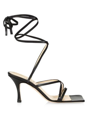 Ophelia Ankle-Wrap Leather Sandals