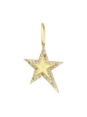 14K Yellow Gold & Diamond Star Charm