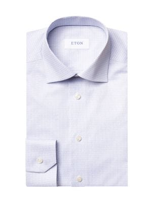 Contemporary-Fit Micro Music Note Dress Shirt