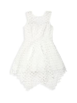 Girl's Anne-Marie Lattice Fit-&-Flare Dress