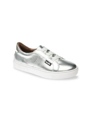 Little Girl's & Girl's Titan Metallic Leather Sneakers