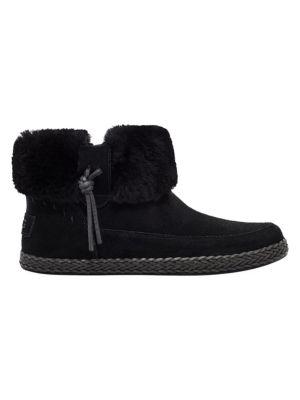 Elowen Sheepskin-Lined Suede Ankle Boots