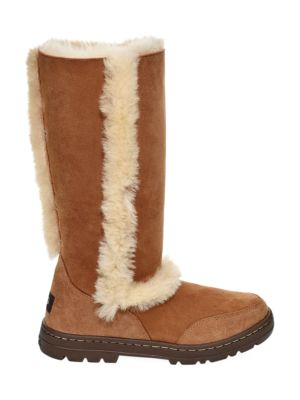 Sundance II Reivival Sheepskin Knee-High Boots