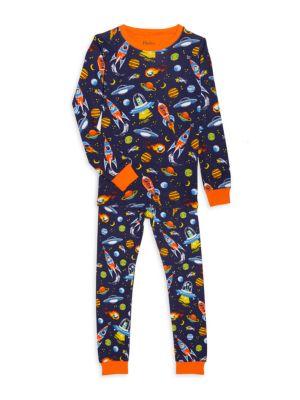 Little Boy's & Boy's 2-Piece Retro Rocket Long-Sleeve & Pants Set