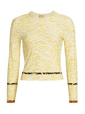 Satellite Zebra Print Top