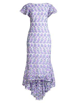 Genoveva Lace High-Low Dress