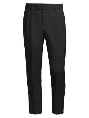Regular-Fit Slim Piping Trousers