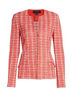 Tweed Knit Jacket