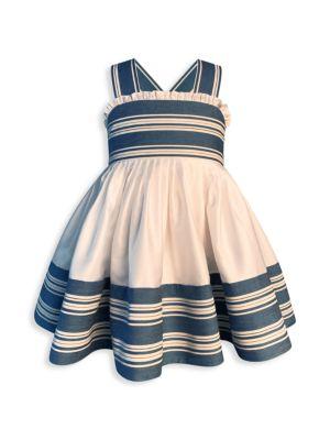 Little Girl's & Girl's Ruffle & Stripe Dress