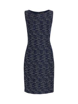 Tweed Knit Sheath Dress