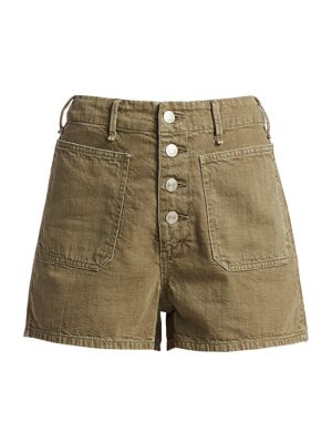 Military High-Rise Shorts