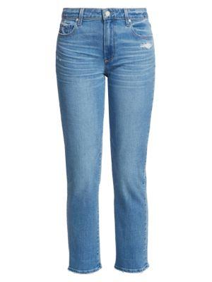 Brigitte Mid-Rise Slim-Fit Boyfriend Distressed Jeans