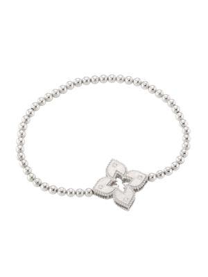 Petite Venetian Large Station 18K White Gold & Diamond Bracelet