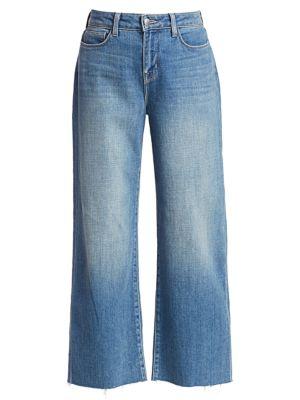 Danica High-Rise Wide-Leg Crop Jeans
