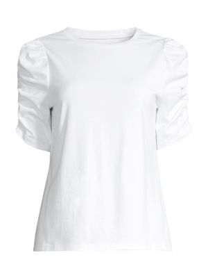Ruched-Sleeve T-Shirt