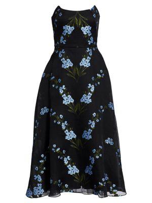 Wildflower Strapless Cocktail Dress