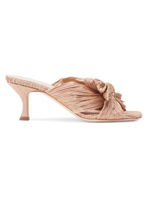 Eugenia Square-Toe Knotted Mules