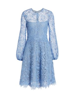 Guipure Lace Fit-&-Flare Dress
