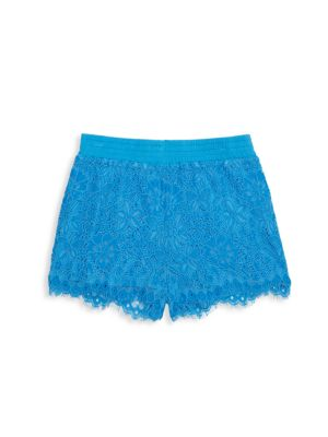Little Girl's & Girl's Lace Sparkle Shorts