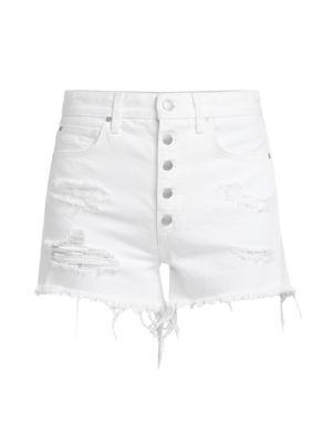 Kinsley Distressed Denim Shorts