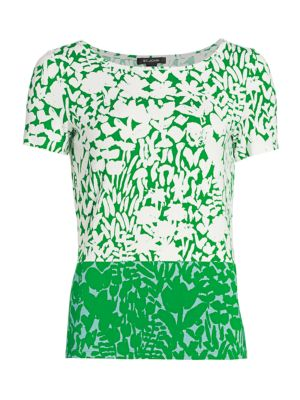 Foral Markings Jersey Bateau T-Shirt