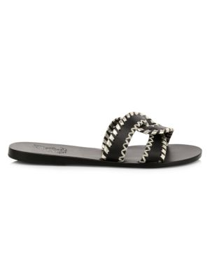 Desmos Flat Whipstitch Leather Sandals