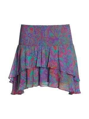 Jackson Paisley Mini Skirt