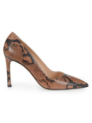 Anny Snakeskin-Embossed Leather Pumps