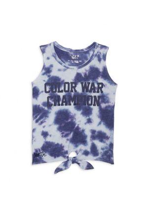 Little Girl's & Girl's Color War Tie-Dye Tank