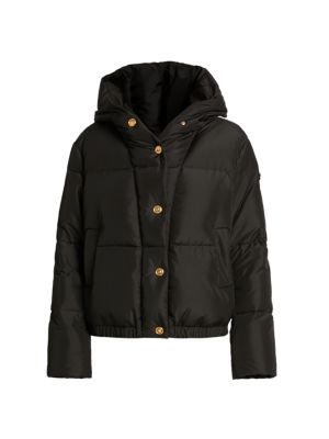 Down Medusa Button Puffer Jacket