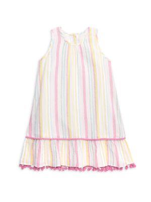 Little Girl's & Girl's Xena Striped Dress