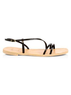 Baja Flat Leather Slingback Sandals