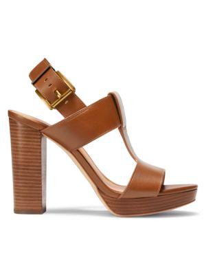 Becker T-Strap Leather Platform Sandals