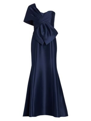 Asymmetrical Wrap Gown